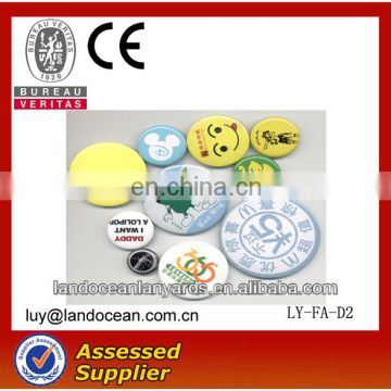 HEHE brand high Quality custom round pin badge