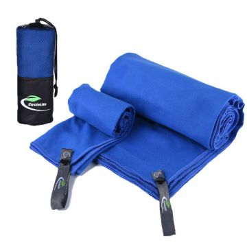 Microfiber sports towel with carry bag