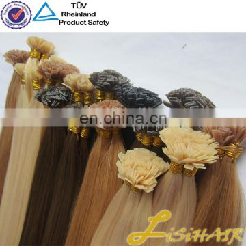 Flat Tip 100% Virgin European Remy Hair Extensions for women