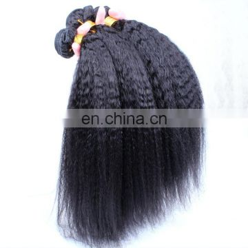 Best Selling Afro Kinky Straight Cheap Wave Human Hair Weave , 100% Top Grade 7A Virgin Brazilian Hair
