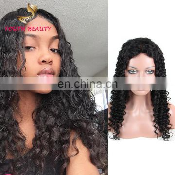 Factory price 2017 Indian human virgin 9A full lace wig in deep curl cuticle aligned raw unprocessed hair