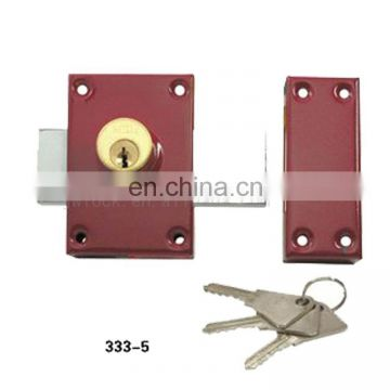 China Interior Door Simple and Easy Installed 333-5 Rim Lock