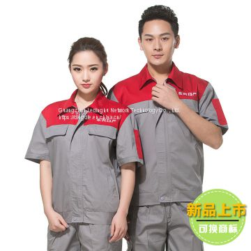 Workwear summer thin section wear-resistant short-sleeved suit male 4S shop auto repair service
