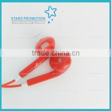 cheap 3.5mm wired in ear Earphone with microphone for moblephone/mp3/mp4/pc