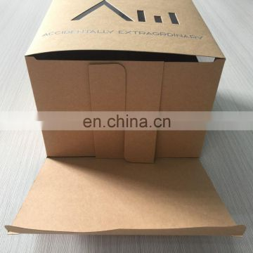 Hot sale in USA nice design flat pack brown color box printing