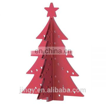 wholesale red acrylic artificial christmas tree decoration