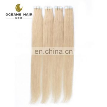 Wholesale high quality fashional straight 613 colour african american human tape hair extensions