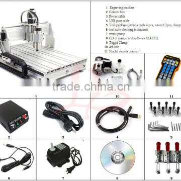 LY 6040 USB port 4axis CNC engraving machine with mach3 remote control ,good combination