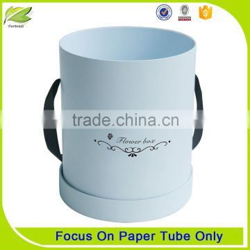 customized round tube paper flower gift box