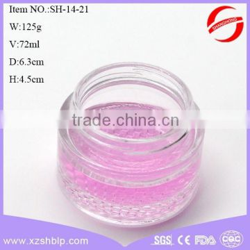 80ml hot sale cosmetic glass bottle moisturizer cream glass jar container empty glass bottle