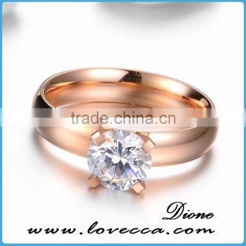 2017 Surgical ring stainless steel with one diamond for women
