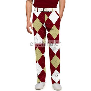 OEM fashion high quality Polyester /Spandex golf pants for men and women