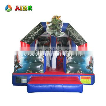 Customized inflatable spideman slide / bouncey dry slide inflatable children slide