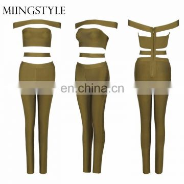 one piece bodycon sexy long bandage women sexy jumpsuit oem