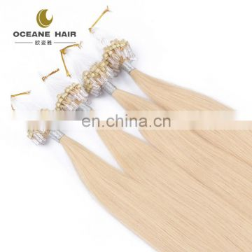 brazilian micro ring loop hair extensions thick soft nano hair nano ring hair extension