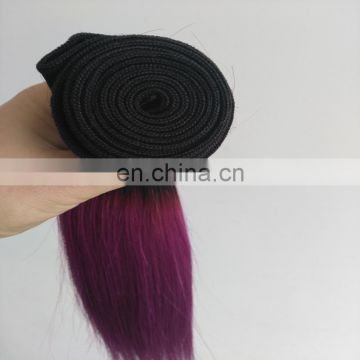 "Alibaba express human hair extensions color 1b/purple two tone hair bundles 12"" 14"" in stock"