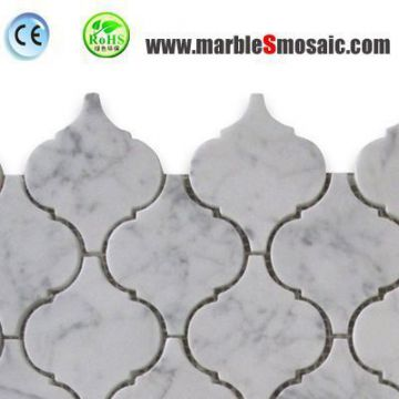 Arabesque White Marble Mosaic Tile
