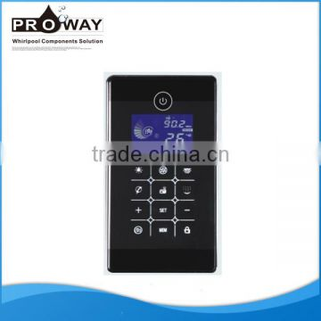 Shower Room Electric Accessories Temperature Waterproof Shower Control Panel Electronic Touch Screen Controller Panel