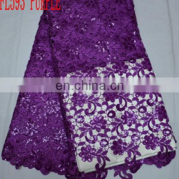 High quality wholesale/retail lace fabric/best price african cord guipure embroidery lace(FL593)in stock/sales well