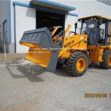 Joystick control multi-function backhoe loader WZ30-25 with breaking hammer auger and other attachments