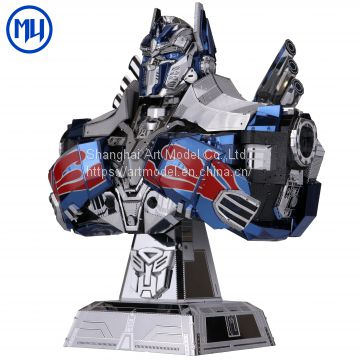 Hasbro Genuine Licensed Transformer Metal Puzzle Model 3d diy Magnetic Assembly Puzzle toys Optimus Prime