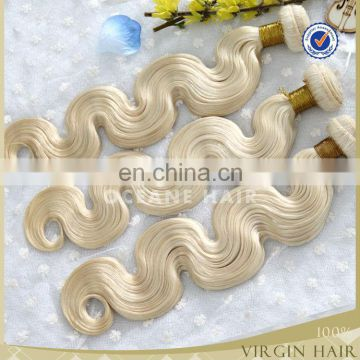 Hot sale!!beautiful color blonde hair extension most popular color 613 blonde hair weave raw unprocessed virgin hair