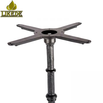 Hot sale cheap antique western style classic black cast iron bar table base frame leg