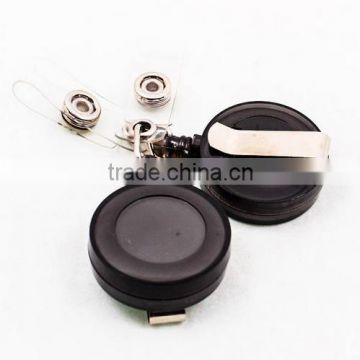 Round Retractable ID Reel Chain Badge Holder Key Tag Clip 32mm Lot