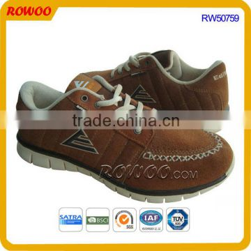 Genuine leather casual lace up sport shoes for male