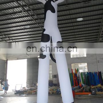 advertising Inflatable animal Air Dancer,inflatable cow sky guy