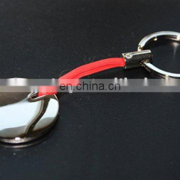 Round Key Tag With Red Cord