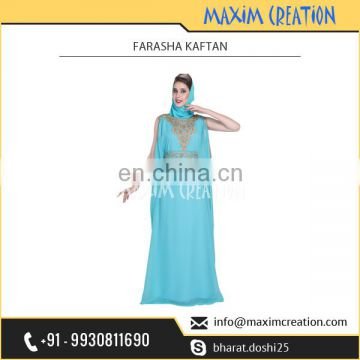 Good Looking Exotic Farasha Kaftan from Leading Islamic Clothe Provider