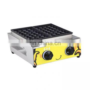 popular 2plate 36pcs output LPG gas takoyaki maker with cast aluminum cooking plate