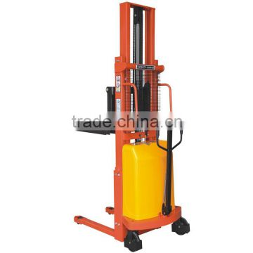 Small forklift hand operate hydraulic pump semi electric power 500kg