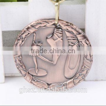 best selling golden zinc alloy ballet medal