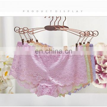 Wholesale Lingerie Lace Underwear Cotton Low Waist Sexy Women Panty