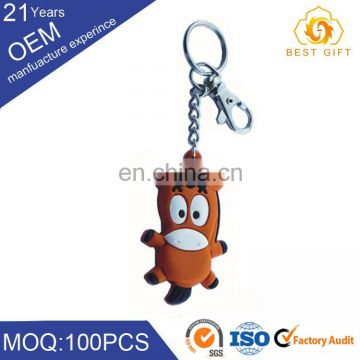 Wholesale custom anime 3D rubber cartoon Keychain