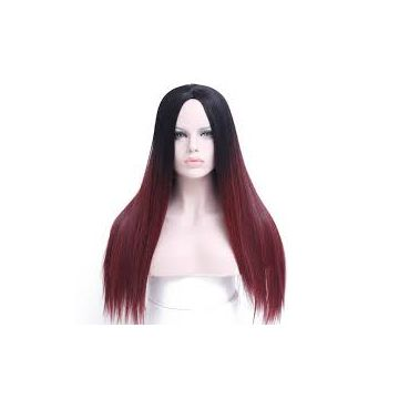 No Shedding Fade Full Lace Human Hair Double Drawn Wigs Bright Color 20 Inches Reusable Wash