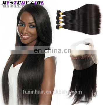 360 Lace Frontal Wig Malaysian Human Hair Straight Lace Frontal With 360 closure lace frontal