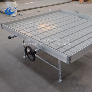 Hebei Chenchao greenhouse growing tables /plastic flood tray