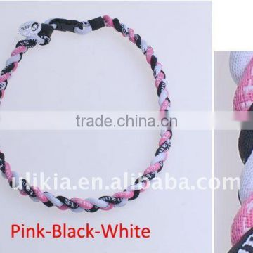 Germanium Titanium Tornado 3 ropes braid Sport Necklaces