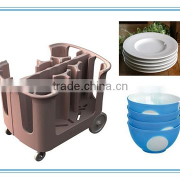 Rotomolded Plastic Adjustable Dish Carts approved by FDA,CE,ISO