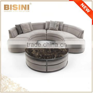 Italy Style Living Room Sectional Sofa Set/ Post Modern Design Fabric  Chesterfield Couch Daybed ...
