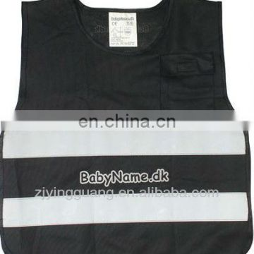 Reflective Safety Vest For Children With Two Horizontal Hi-visibility Reflective Tape