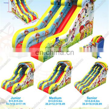 Patented Crazy misic theme giant Commercial tobo gay cartoon inflatable double lane slip slide for sale with CE approved