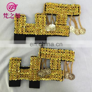 X-8008 Cheap Full sequins high elastic Practise belly dance shoes