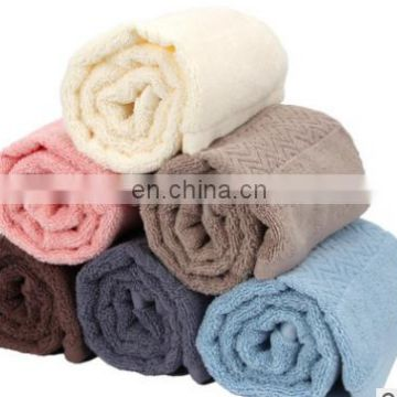 China suppliers wholesale high quality water ripple 100% cotton plain weave face towel