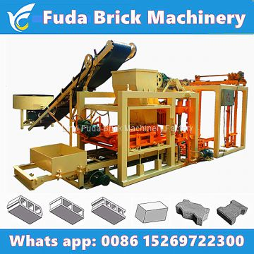 QT4-26C or QT4-25 shengya automatic concrete block machine, habiterra block production line