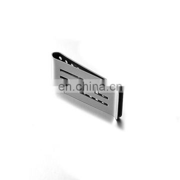 custom promotion gift metal folded silver money clip for sale