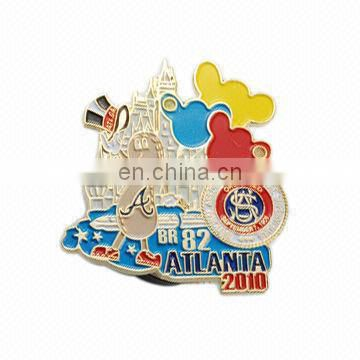 25 Experience FACTORY PRICE China Construction Cap 2D Metal Pin Badge